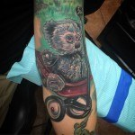 Shabby Teddy Bear Tattoo