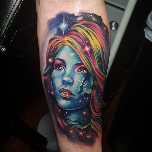 face of stars tattoo