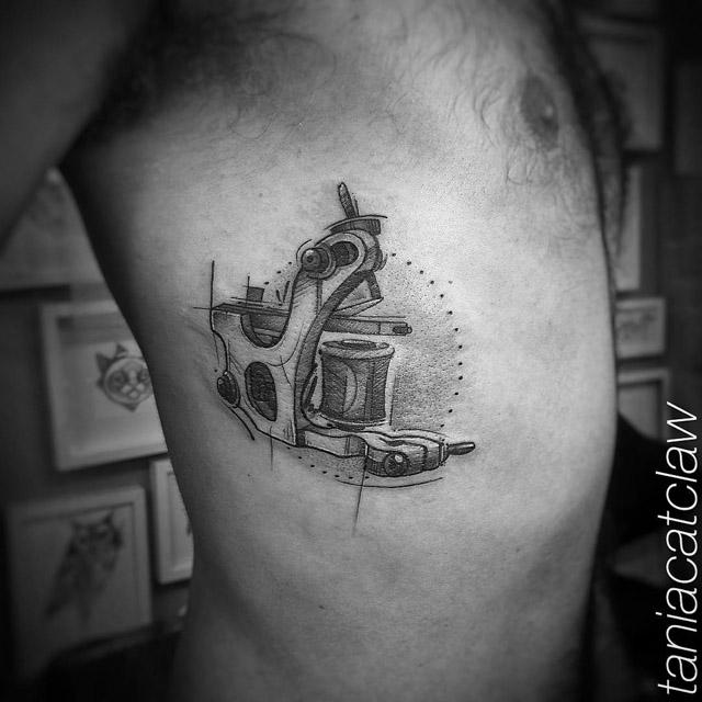 rib tattoo macine tattoo