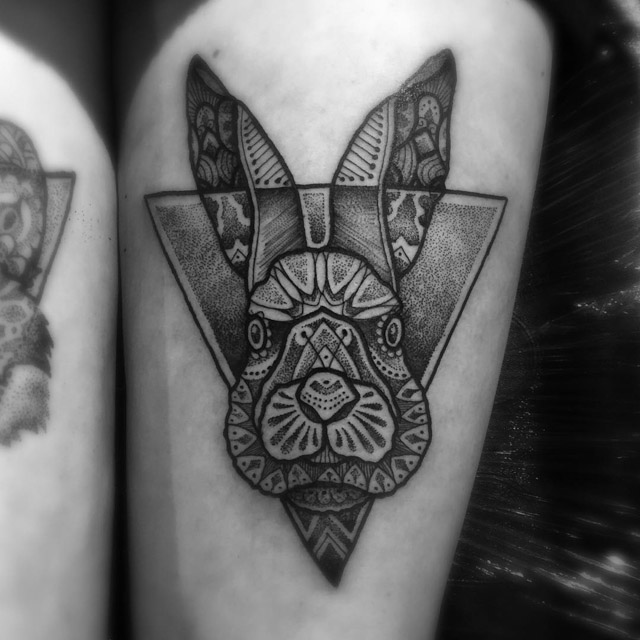 rabbit head tattoo