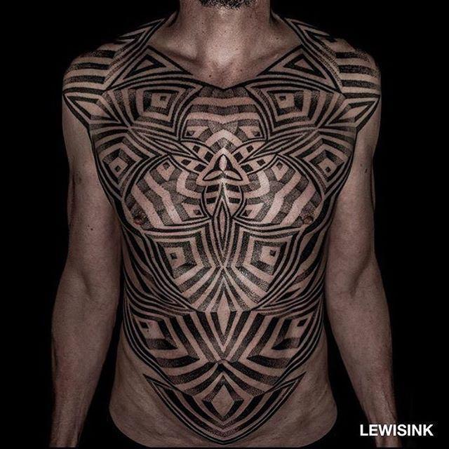 full body tattoo dotwork