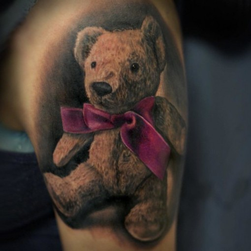 teddy bear tattoo best tattoo ideas gallery. Black Bedroom Furniture Sets. Home Design Ideas