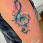 Treble Clef Tattoo