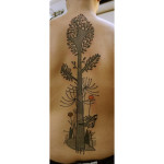 abstract tree tattoo on back