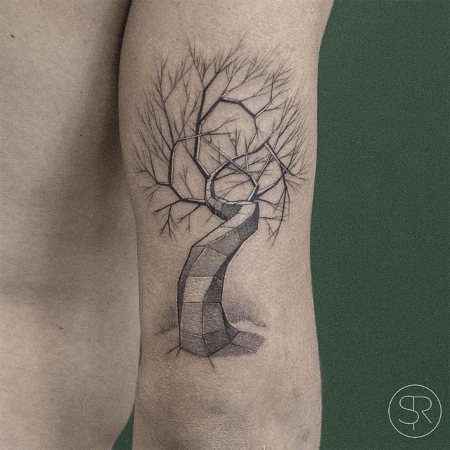 arm tattoo tree of metal