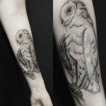 Woodcut Owl Tattoo