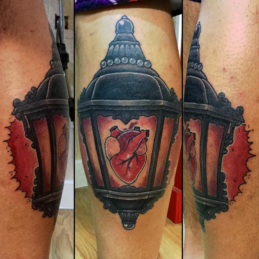heart lantern tattoo