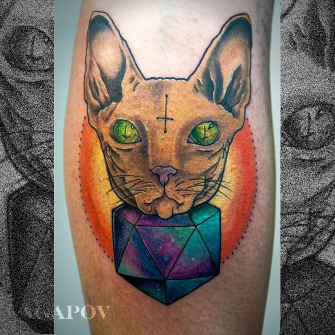 satan cat by Ilya Agapov