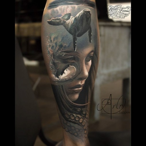 Abstract ocean realism tattoo best tattoo ideas gallery for Best realism tattoo artist
