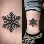 Ankle Snowflake Tattoo