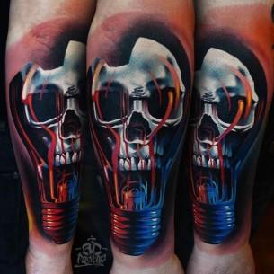 Bulb Skull Tattoo