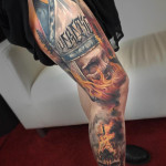 Burning Church Tattoo