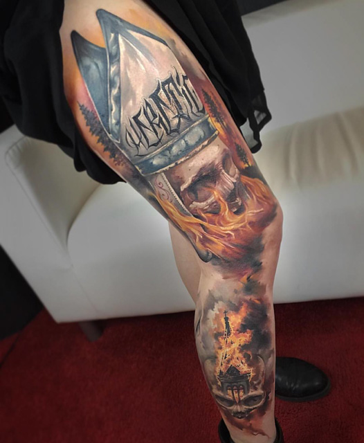 fire church tattoo