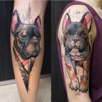 Cool Style Bulldog Tattoos