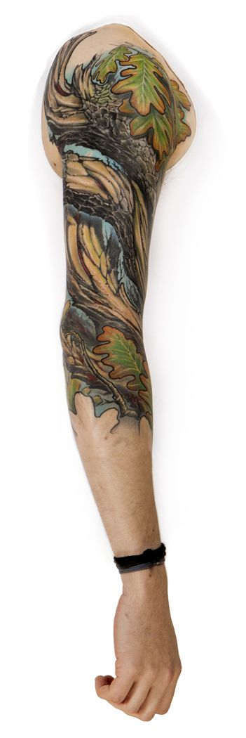 Ember Oak Tattoo Sleeve