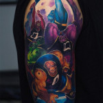 Evil Space Jam Team Tattoo
