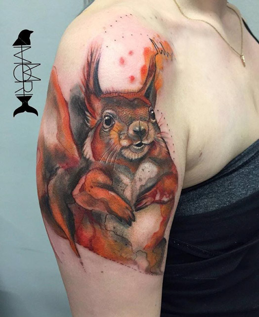 Tattoo Fat Squirrel