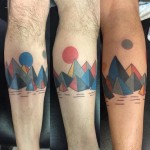 Geometrical Mountains Tattoo