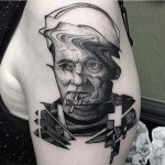 Glitch Bill Murray Tattoo