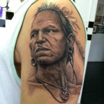 indian face tattoo