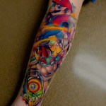 Leg Super Mario Tattoo Sleeve