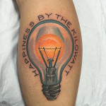 Kilowatt Happiness Tattoo Bulb