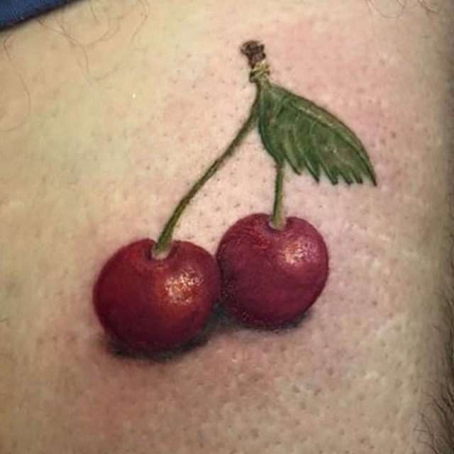 small cherry tattoo