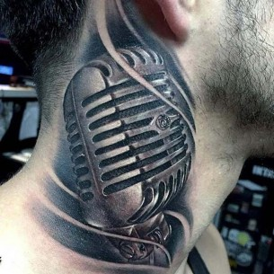 Microphone Tattoo