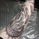 Moon Feathers Tattoo