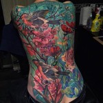 full back nature tattoo