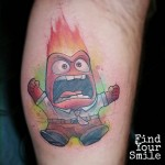 New School Anger Tattoo