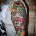 New School Hannya Mask Tattoo
