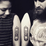 Nixie Bulbs Tattoos For Couple
