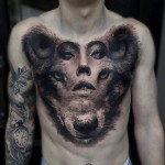Personality Essence Tattoo on Chest