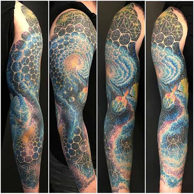 full tattoo sleeve space
