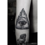 Stone Eye of Providence Tattoo