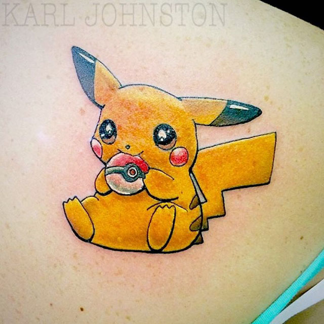 Pokemon tattoo pikachu