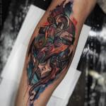 Tentacle Grasped Anchor Tattoo