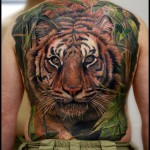 Tiger Full Back Tattoo