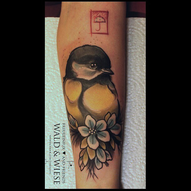 tattoo titmouse