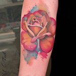 Watercolor Rose Tattoo