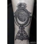 baroque mirror tattoo