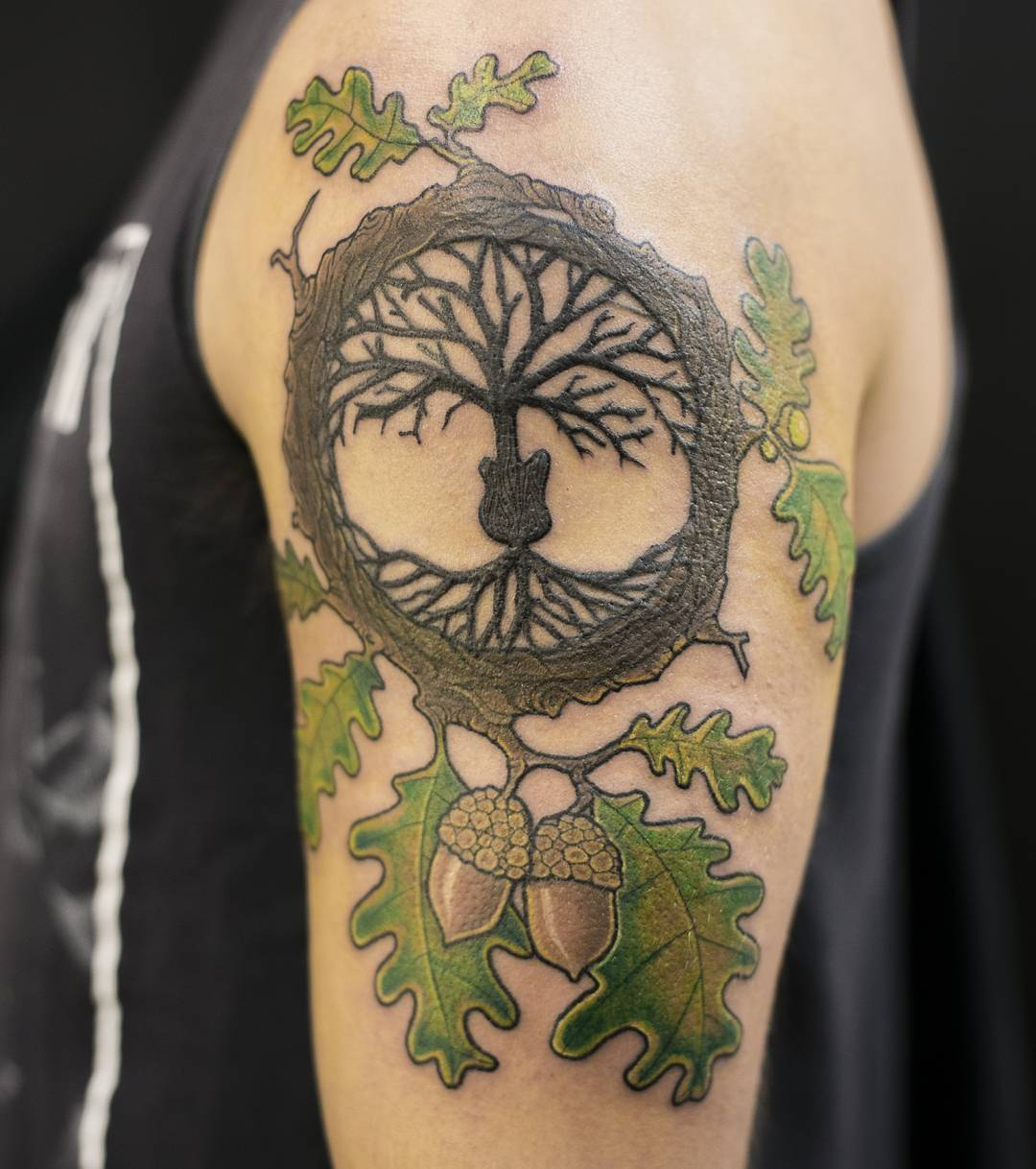 green oak tattoo