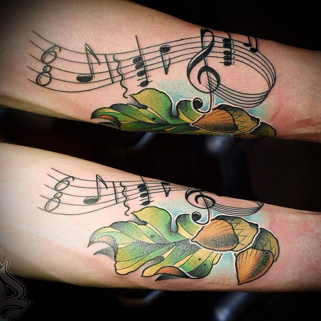 musical oak tattoo