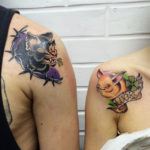 Bat Couple Tattoos