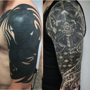 Black Tattoo Cover Up