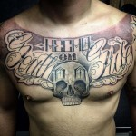 chest tattoo chicano skull