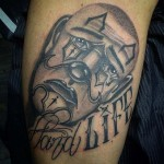 Chicano Clown Tattoo