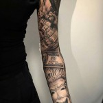 Chicano Full Sleeve Tattoo