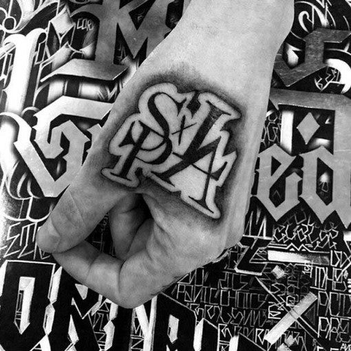 symbol hand tattoo Chicano